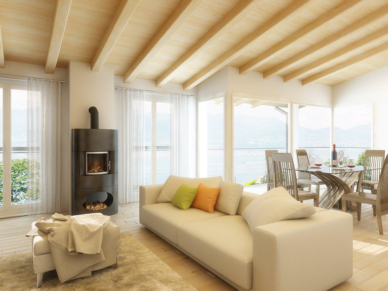 Svizzera progetto rendering ristrutturazione immobile for Rendering 3d interni